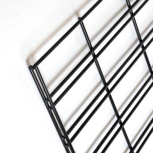 Paneles de rejilla (solo rejilla) negras para poner pies-borde doble [2]