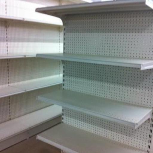 Góndola a pasillos estantería supermercados trasera de chapa perforada [1]