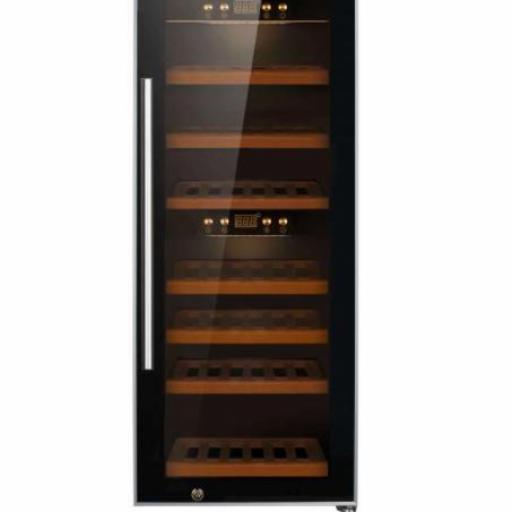 Armario Cava de Vino 2 temperaturas 50 botellas 400x630x1035h mm PEKIN CH W-50