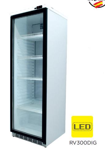 Armario expositor refrigerado puerta vidrio modelo CH RV300DIG