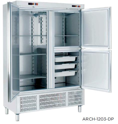 Armario refrigerado con departamento de congelados modelo CH ARCH-1203-DC