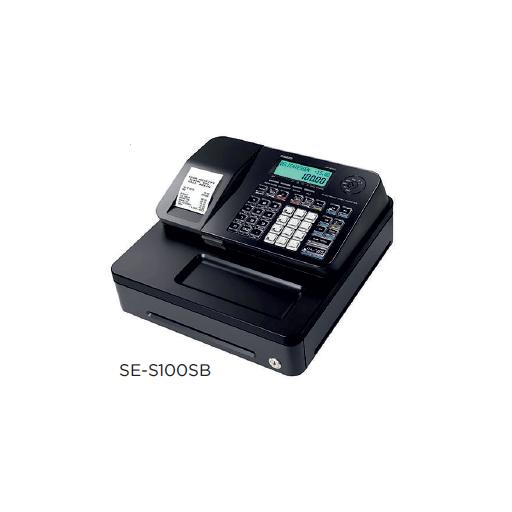 Registradora CASIO SE-S100 con factura simplificada y compatible con tarjeta SD modelo CH SE-S100MB-BK