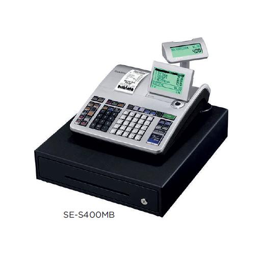 Registradora CASIO SE-S400 con fractura simplificada, compatible tarjeta SD y conectividad a balanza y escáner modelo CH SE-S400MB-SR