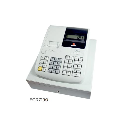 Registradora OLIVETTI ECR con factura simplificada modelo CH ECR7190