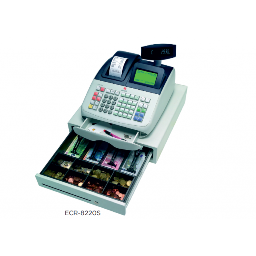 Registradora OLIVETTI con factura simplificada compatible tarjeta SD y conectividad total modelo CH ECR-82205