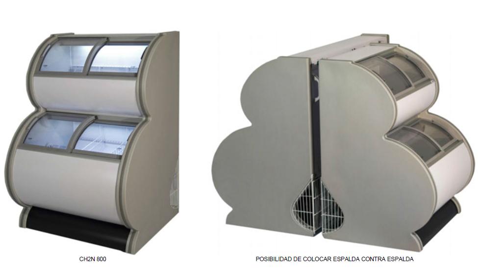 Congelador expositor impulso de 2 niveles -18ºC / -22ºC modelo MQ CH2N800