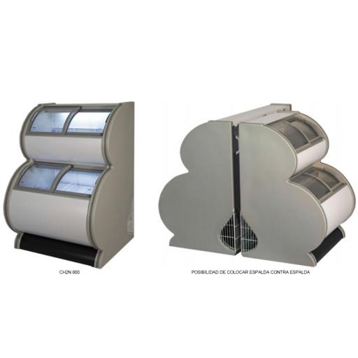 Congelador expositor impulso de 2 niveles -18ºC / -22ºC modelo MQ CH2N 1270 [0]