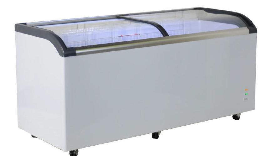 Mini isla de congelación con cristal curvo iluminación led -18ºC / -25ºC modelo MQ FR520PFC