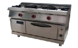 Cocina de 3 fuegos con horno Mod. MHCOCHG3