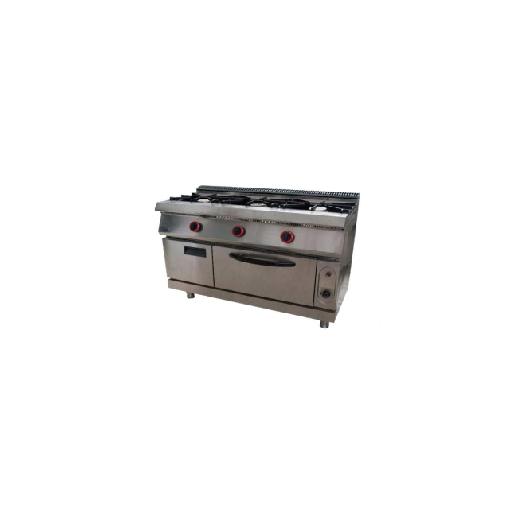 Cocina de 3 fuegos con horno Mod. MHCOCHG3 [0]