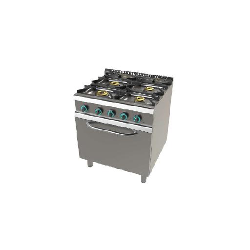 Cocina de 4 fuego con horno fondo 700 Mod. CHFO7N401