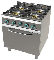 Cocina de 4 fuegos con horno fondo 700 Mod. FO7N4O1VT