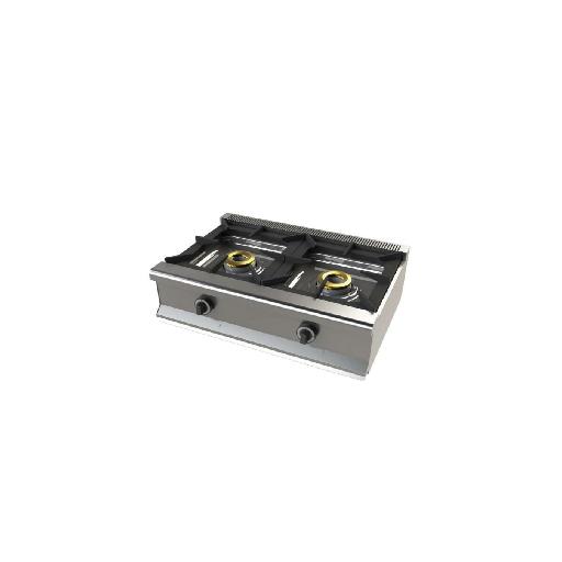Cocina de 2 fuegos de sobremesa Mod. CH 6200B/1