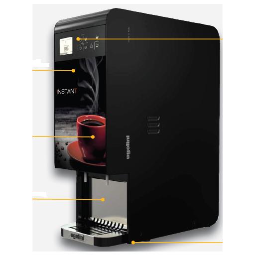 Distribuidor de bebidas caliente modelo DF INSTANT 2