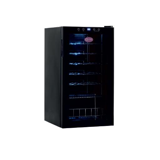 Armario de vino de una temperatura con puerta de vidrio modelo CH CV-28-C