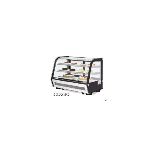 Vitrina refrigerada 4 caras de vidrio modelo CH CD230