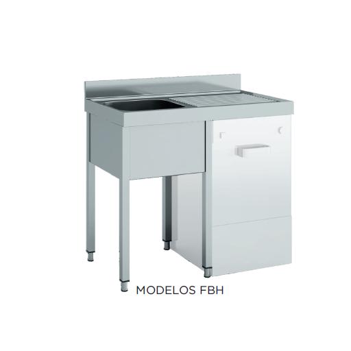 Fregadero especial lavavajillas desmontado fondo 700 modelo CH FBH167-2C-E