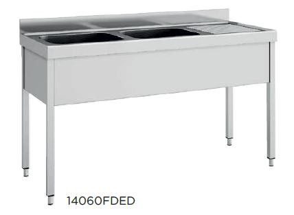 Fregadero  desmontado fondo 600 modelo CH 12060FDEI