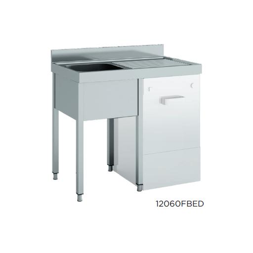 Fregadero especial lavavajillas desmontado fondo 600 modelo CH 12060FBEI