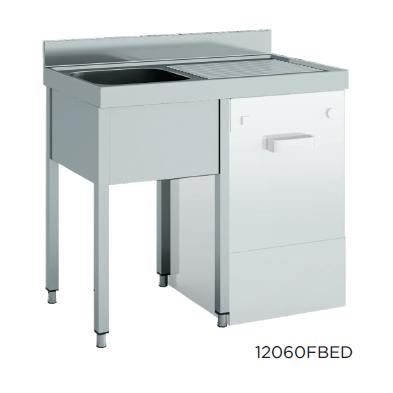 Fregadero especial lavavajillas desmontado fondo 600 modelo CH 12060FBED