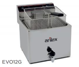 Freidora eléctrica con grifo de vaciado modelo CH EVO12G