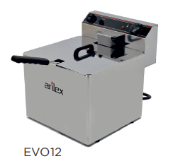 Freidora eléctrica sin grifo de vaciado modelo CH EVO12