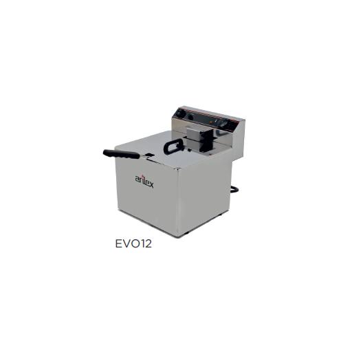 Freidora eléctrica sin grifo de vaciado modelo CH EVO12TR