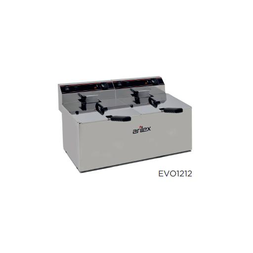 Freidora eléctrica sin grifo de vaciado modelo CH EVO1212