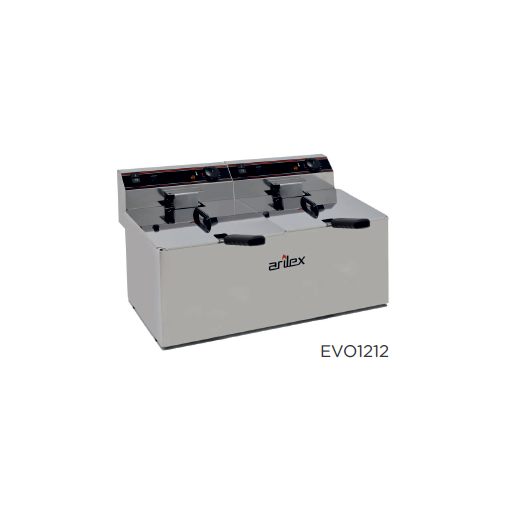 Freidora eléctrica sin grifo de vaciado modelo CH EVO1212TR