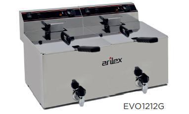 Freidora eléctrica con grifo de vaciado  modelo FC EVO12GTR