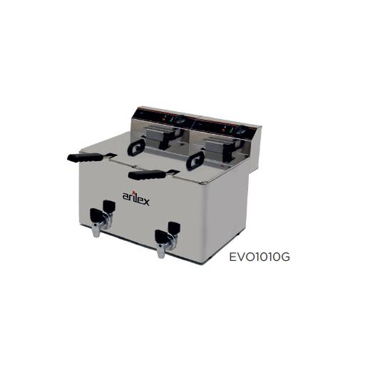 Freidora eléctrica con grifo de vaciado modelo CH EVO1010G