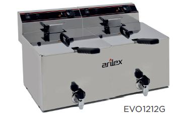 Freidora eléctrica con grifo de vaciado modelo CH EVO1212G