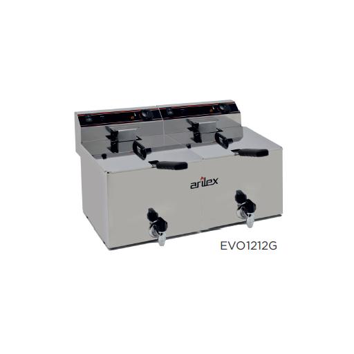 Freidora eléctrica con grifo de vaciado modelo CH EVO1212GTR