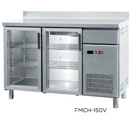 Frentemostrador refrigerado con puertas de cristal modelo CH FMCH-150V