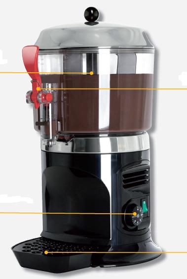 Chocolatera ugolini modelo DF DELICE 3