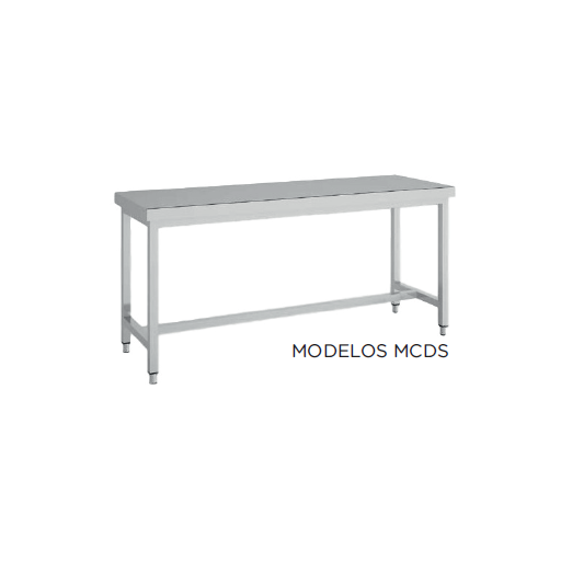 Mesa de trabajo central SIN estantes fondo 800 modelo CH MCDS168