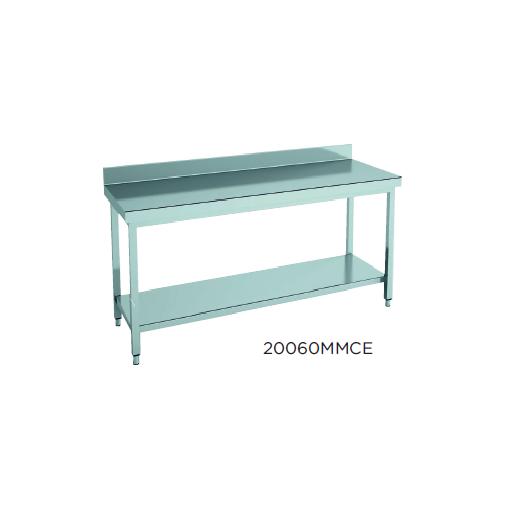 Mesa de trabajo mural con estante fondo 600 modelo CH 12060MMCE