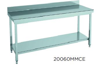 Mesa de trabajo mural con estantes fondo 700 modelo CH 18070MMCE