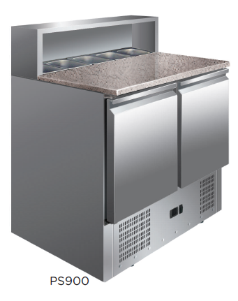Mesa preparación ensaladas / pizza encimera de granito fondo 700 modelo CH PS900