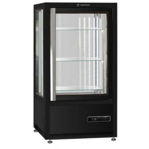 Vitrina vertical sobre banco especial pastelería / heladería - refrigeración ventilada modelo MQ MUSA120Q CIOCCO (chocolate)