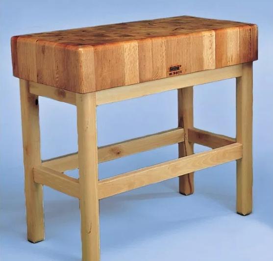 Tajo de 4 patas de madera sin portacuchillos modelo SC 6025