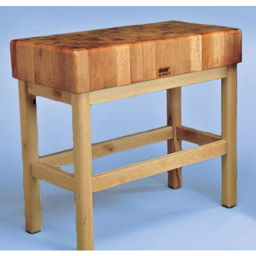 Tajo de 4 patas de madera sin portacuchillos modelo SC 7025
