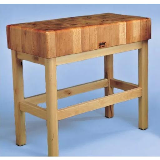 Tajo de 4 patas de madera sin portacuchillos modelo SC 10025