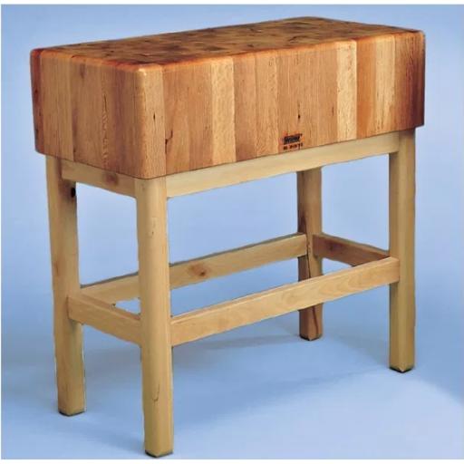 Tajo de 4 patas de madera sin portacuchillos modelo SC 8015