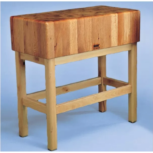Tajo de 4 patas de madera sin portacuchillos modelo SC 10015