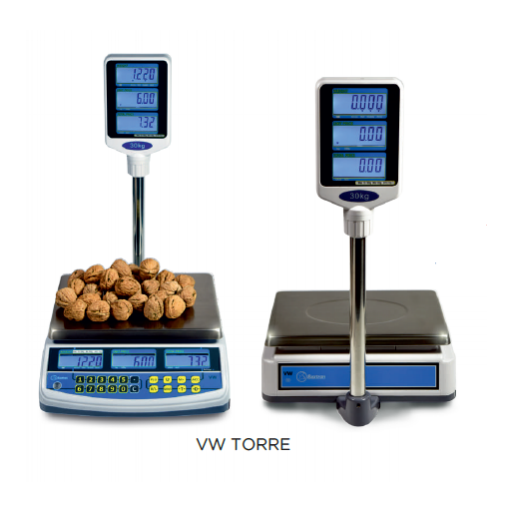 Balanza SIN impresora de tickets con conexión a TPV modelo CH VW TORRE