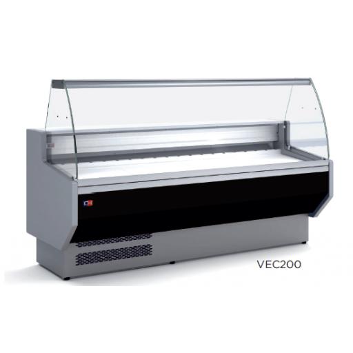 Vitrina refrigerada expositora fondo 800 modelo VEC200