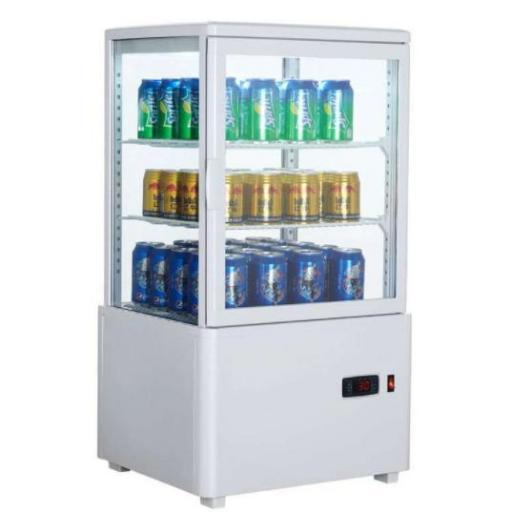 Expositor refrigerado 4 caras 98 litros Blanco de 447x400x1199h mm Línea Pekín CH XC98L-B