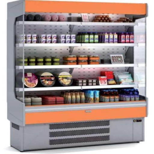 Mural refrigerado expositor fondo 600 frutas y verduras modelo CH M-6-240V
