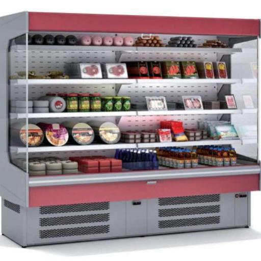 Mural refrigerado expositor fondo 800 lácteos y charcutería modelo CH M-8-240